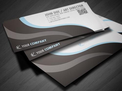 Quick Response QR business card design
