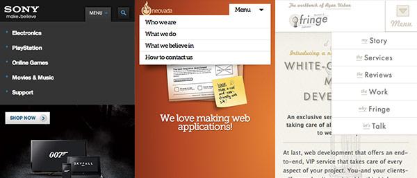 CSSのドロップダウンメニュー