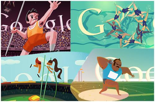 オリンピック仕様のGoogleロゴで遊んでみる。